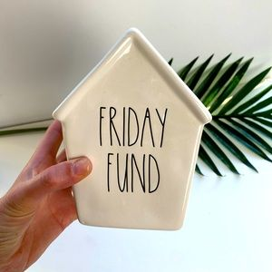 Rae Dunn Friday Fund Piggy Bank New with Tags